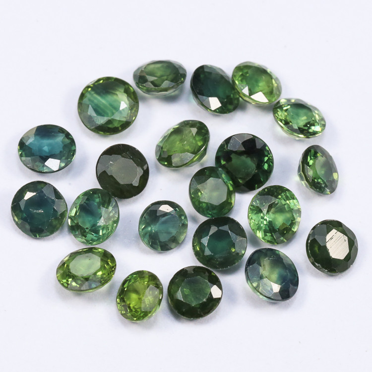 6.0tcw Natural Blue Green Sapphire 4-5mm Rounds Parcel