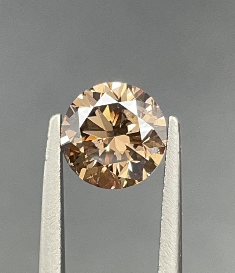 1.09 CT Diamond Gemstones brown color top luster