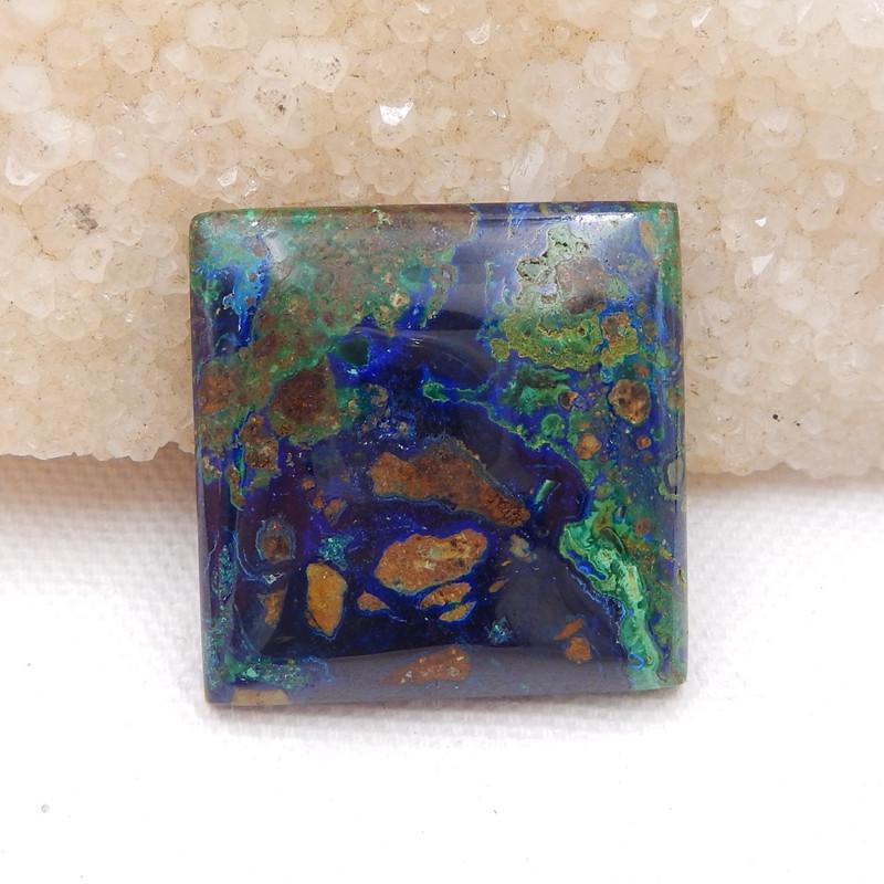 azurite cabochon square shape