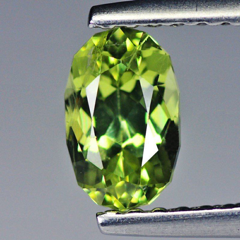 Sapphire 0.77 Cts  Canary Green Signature Geo Cut BGC318 | From Srilanka