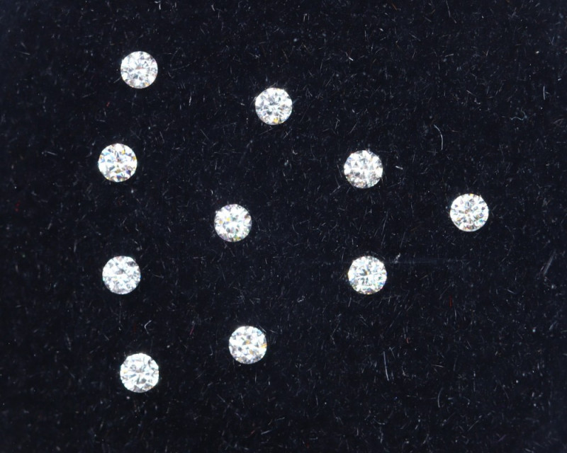 1.2mm D-F Brilliant Round VS Loose Diamond 10pcs