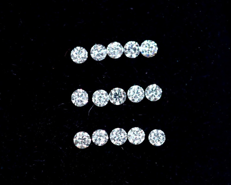 1.2mm D-F Brilliant Round VS Loose Diamond 15pcs