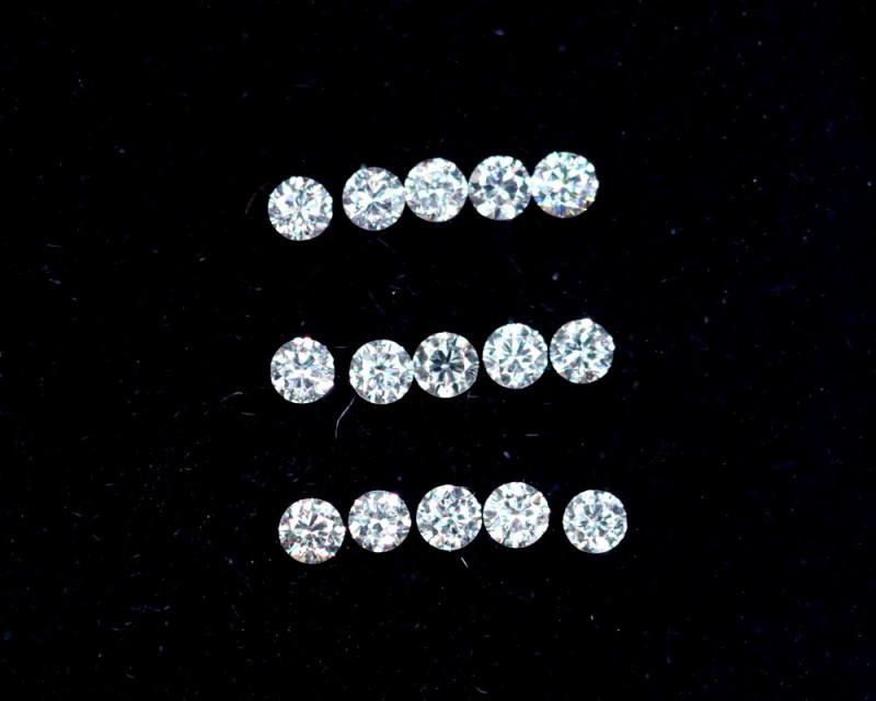 1.3mm D-F Brilliant Round VS Loose Diamond 15pcs