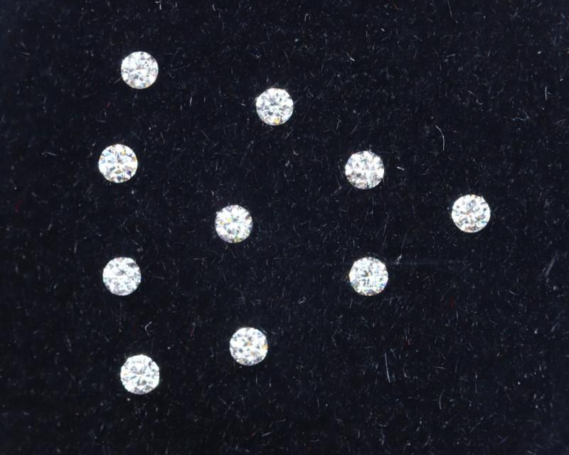 1.4mm D-F Brilliant Round VS Loose Diamond 10pcs