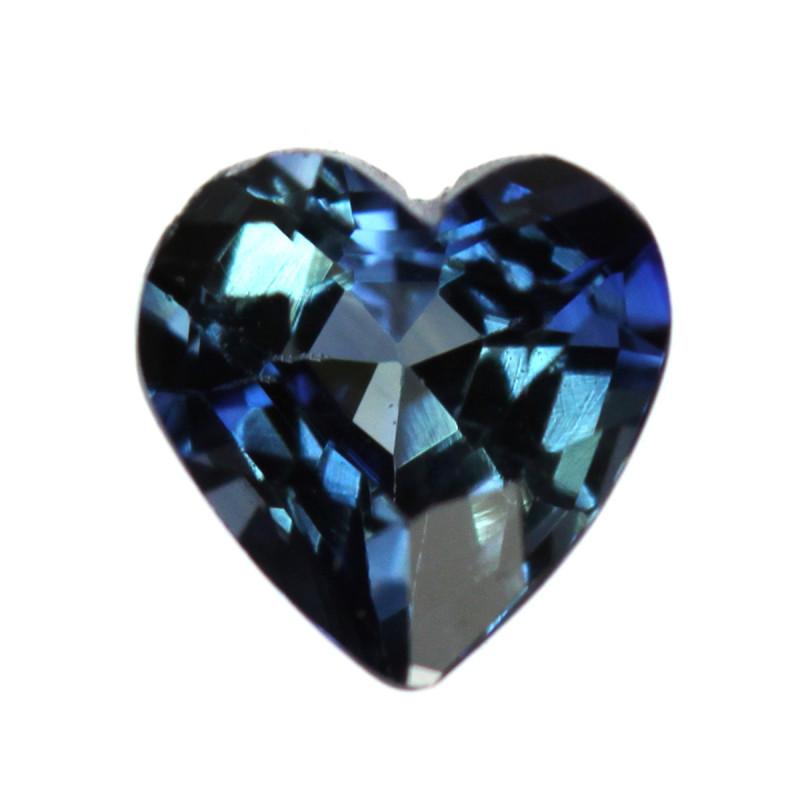 0.28cts Natural Australian Blue Sapphire  Heart Shape