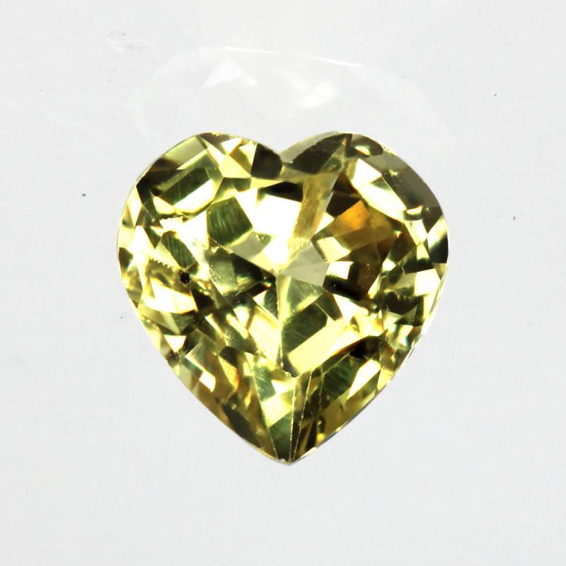 0.35cts Natural Australian Yellow Sapphire  Heart Shape