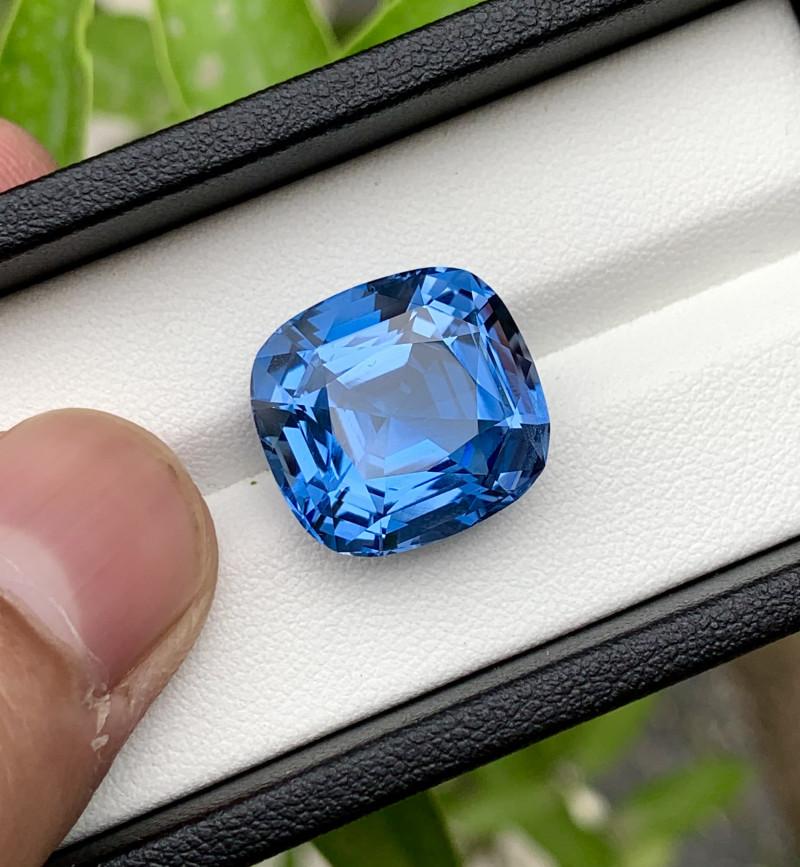 Certified Santa Maria Color Aquamarine Gemstone - 16.24 Carats
