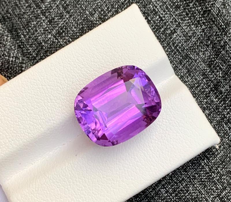 15.65 Carats fancy cut amethyst gemstone