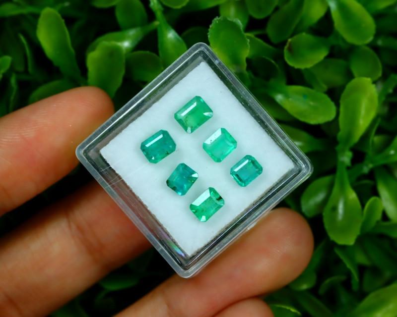 Emerald 2.68Ct 6Pcs Octagon Cut Natural Zambian Green Emerald A2511