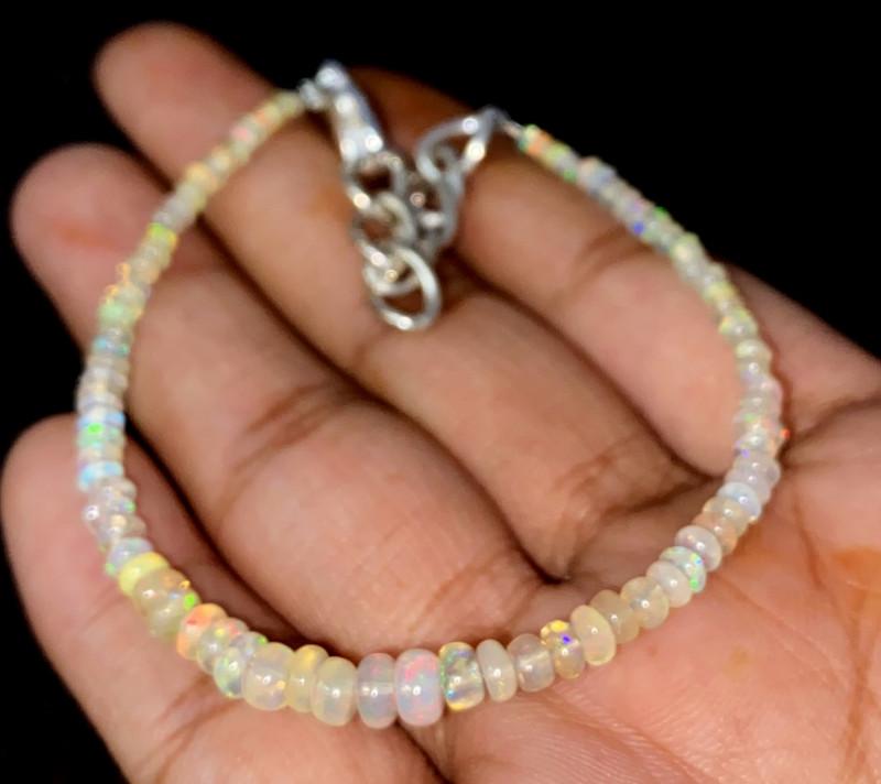 12.95 Crts Natural Ethiopian Welo Opal Bracelet 127