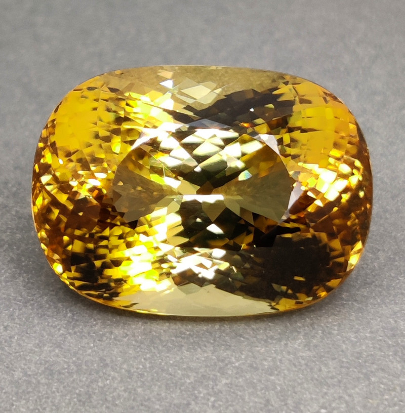 PRIVATE AUCTION 32.10 CTS RARE SHIMMERING GOLDEN YELLOW NATURAL TOURMAILNE