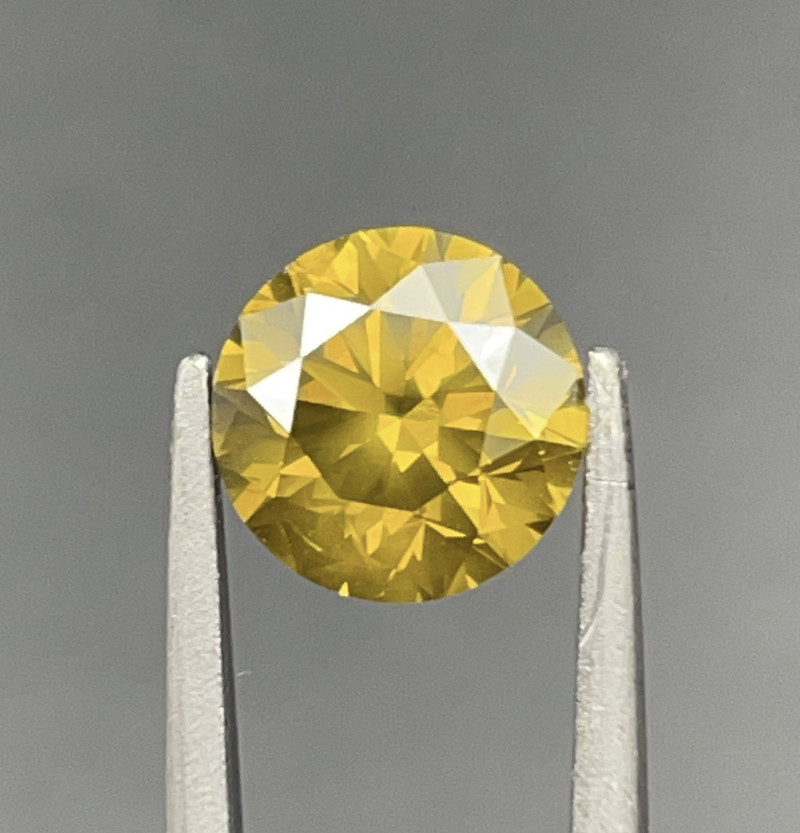 1.65 CT Diamond Gemstones Top yellow color with fine Cutting