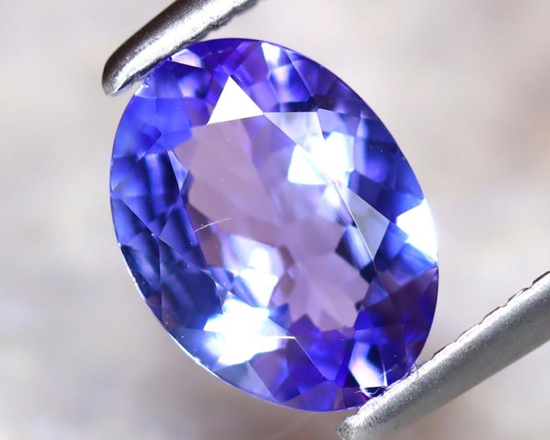 Tanzanite 1.10Ct Natural VVS Purplish Blue Tanzanite D3107/A45