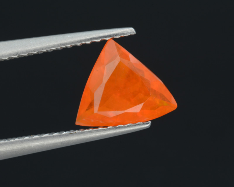Mexican Fire Opal  0.86 Cts Faceted Gemstone