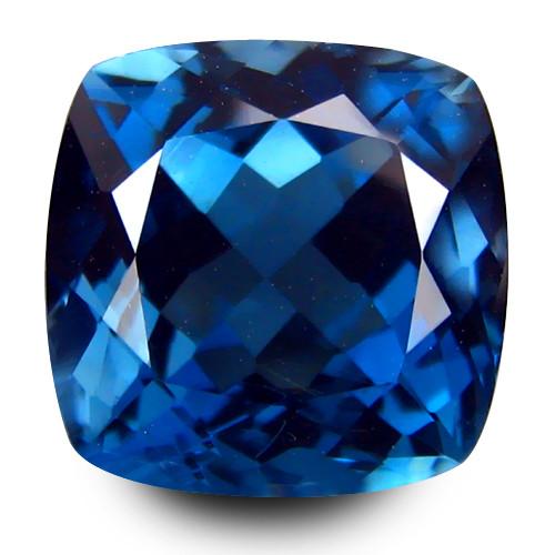 2.90Cts Sparkling Natural London  Blue Topaz Master Cushion Cut Loose Gem V