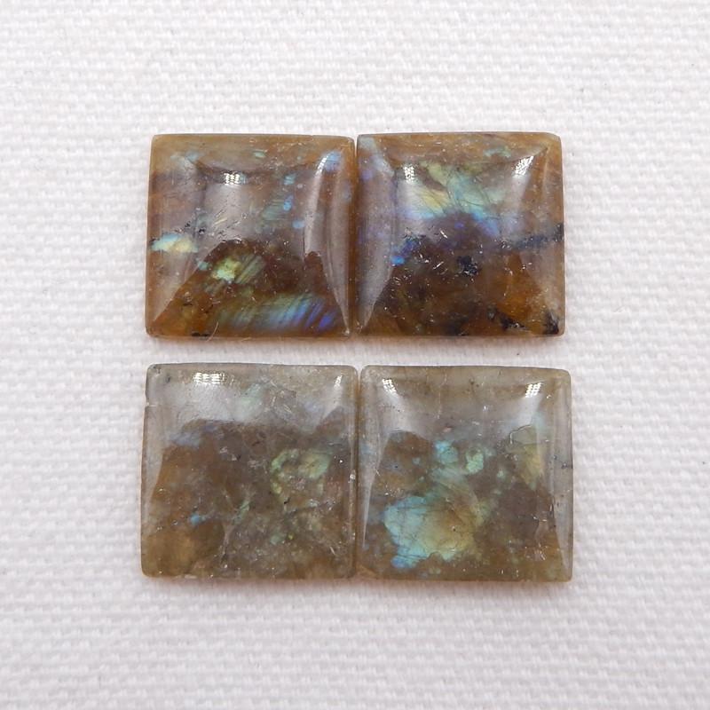 D1815 - 35.5cts Natural Labradorite Square Cabochon,Handmade Gemstone,L