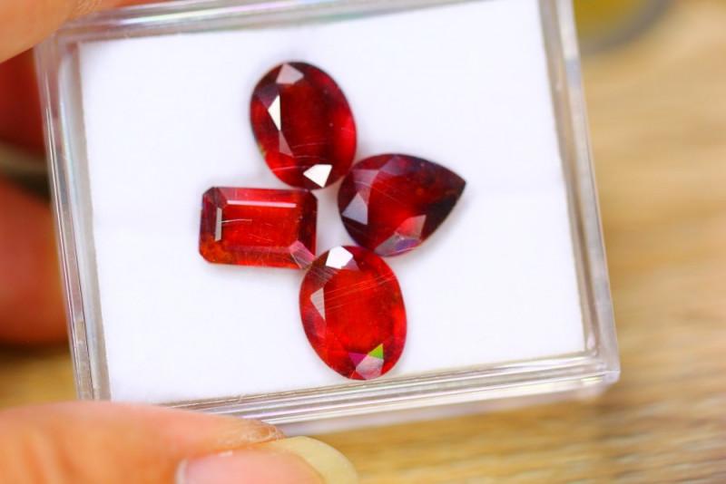 18.18ct Natural Hessonite Garnet Mix Cut Lot  B3868