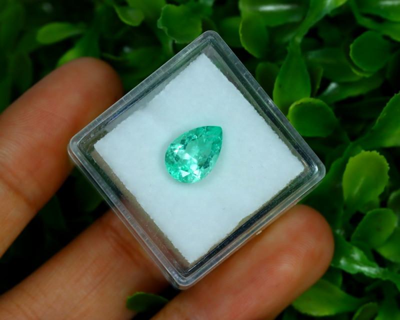 Muzo 1.64Ct Natural Colombian Emerald Neon Mint Green Beryl B3404