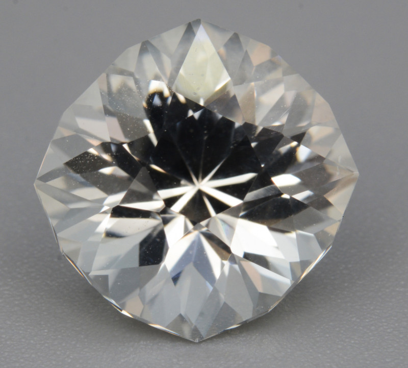 Natural White Topaz 4.99 Cts, Precision Cut, Top Luster