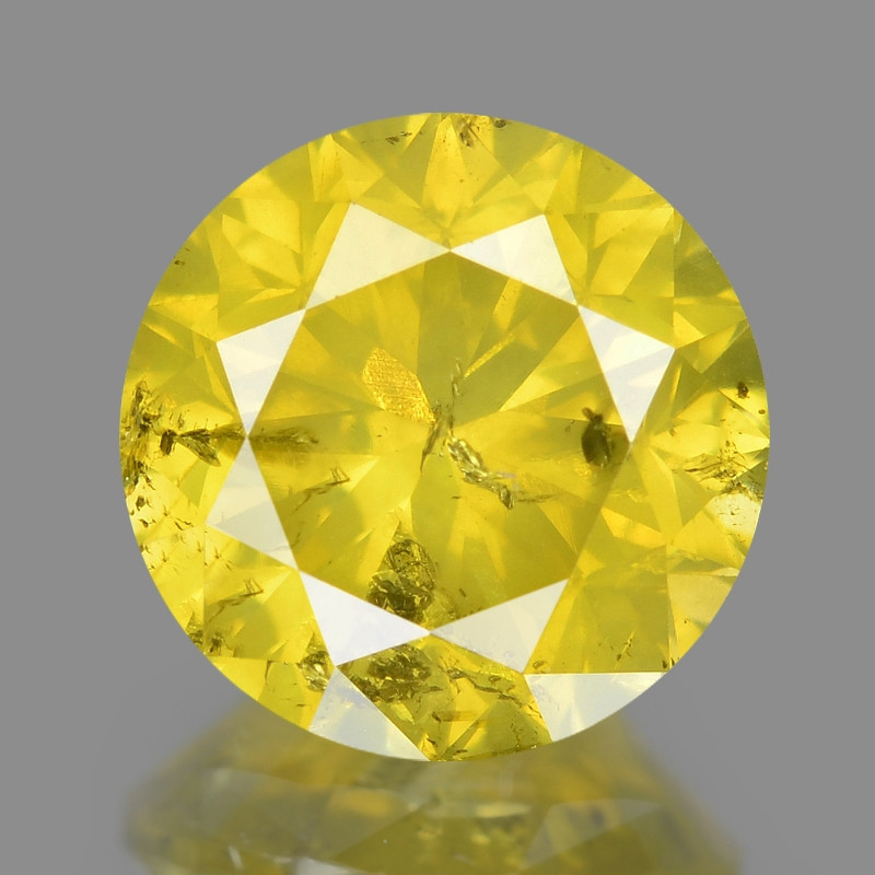 Yellow Diamond 1.02 Cts Sparkling Fancy Intense Natural Yellow Color