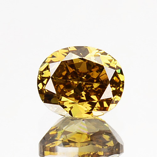 ~UNTREATED~ 0.26 Cts Natural Golden Champagne Diamond Oval Cut Africa