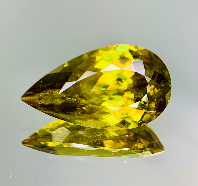 16.10 Cts Full Fire Top Luster Natural  Sphene gemstone