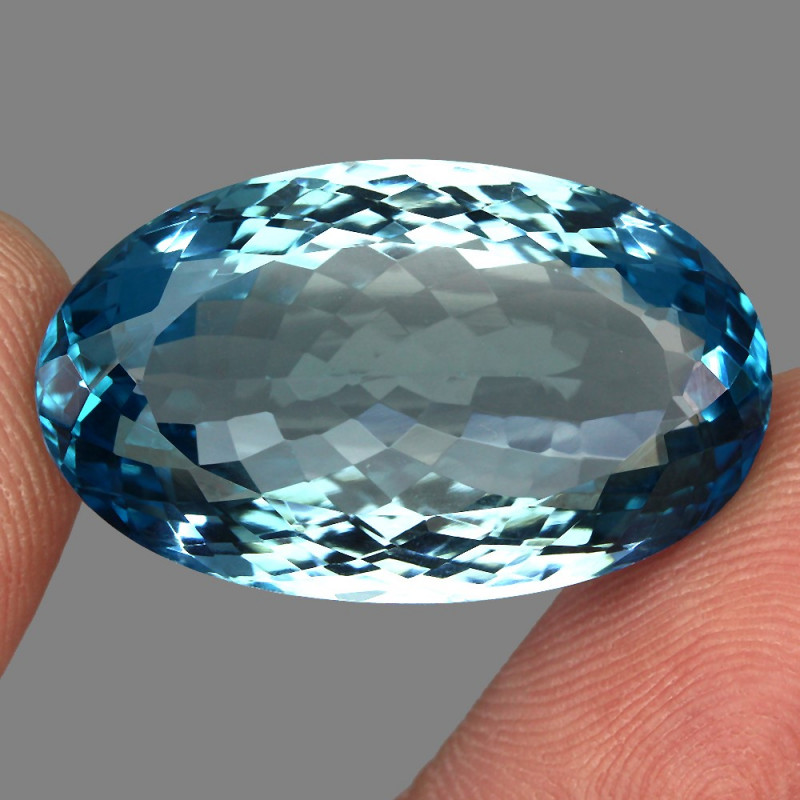 48.84 ct. 100% Natural Earth Mined Top Quality Blue Topaz Brazil