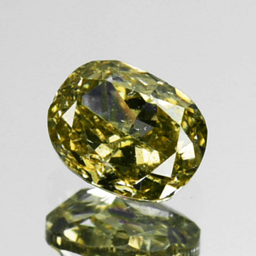 ~UNTREATED~ 0.19 Cts Natural Greenish Yellow Diamond Oval Africa