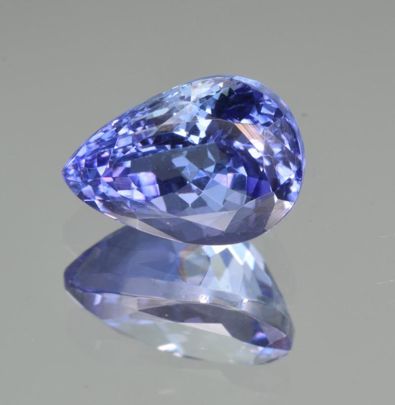 Natural Tanzanite 3.33 Cts Top Grade  Faceted Gemstone