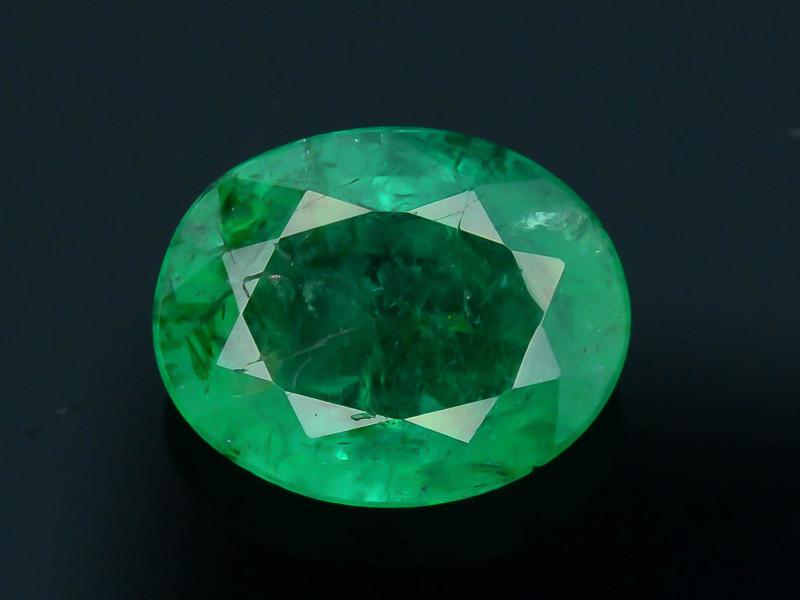 Top Quality 1.10 ct Zambian Emerald Vivid Green Color