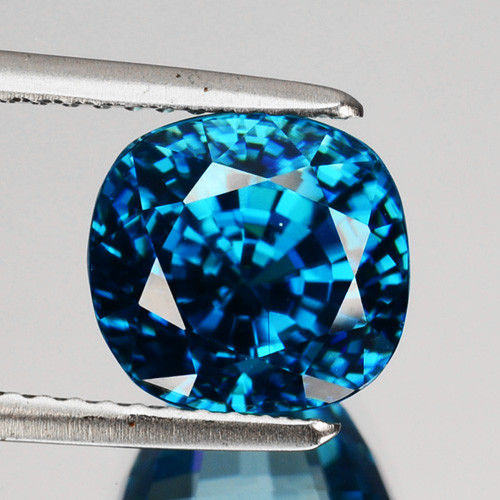 7.13 Cts Mind Blowing Natural Blue Zircon Cushion Cambodia