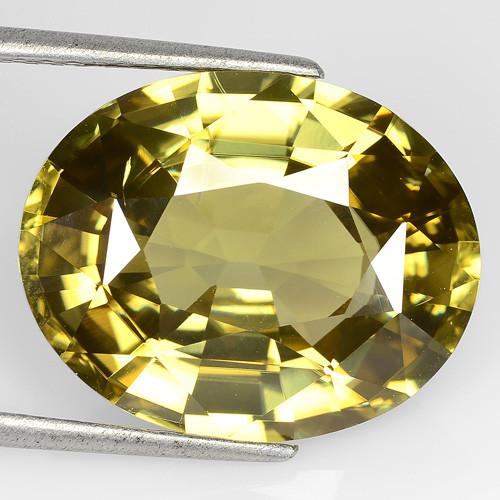25.24 Cts Beautiful Natural Golden Yellow Zircon Oval Tanzania