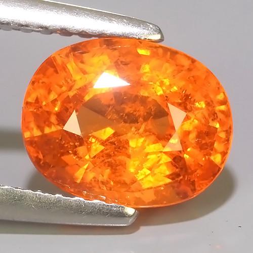 4.10 Cts Unheated Natural Orange Spessartite Garnet Namibia Gem!!