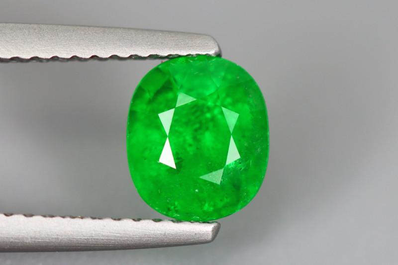 1.590Cts Tsavorite Oval Chrome Green Garnet 100% Natural Unheated