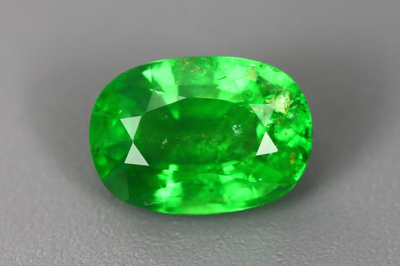 1.950 Cts Tsavorite Oval Chrome Green Garnet 100% Natural Unheated