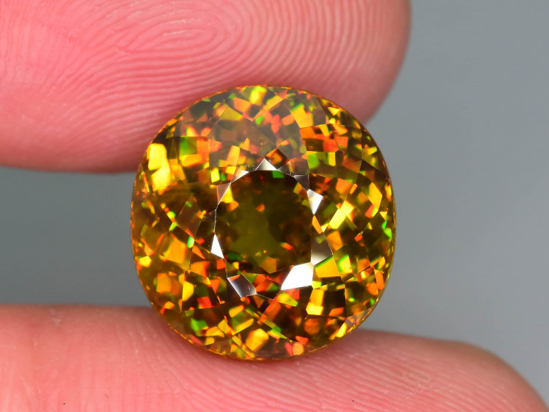 Imperial Sphene 11.60 ct Unreal Fire and Color Spectrum  Sku-80