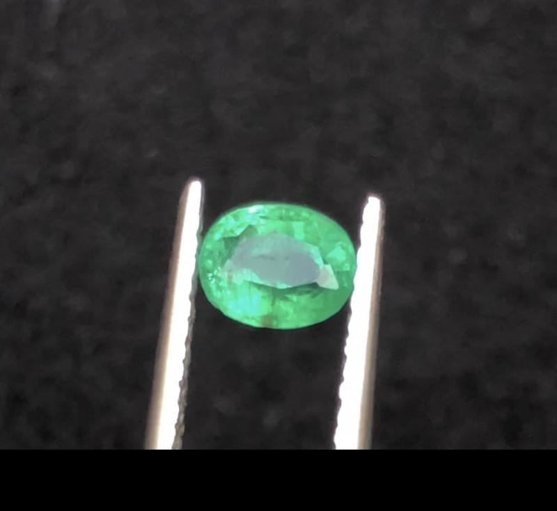 Loupe Clean 0.50 ct Panjshir Emerald Eye Catching Piece Ring Size~T