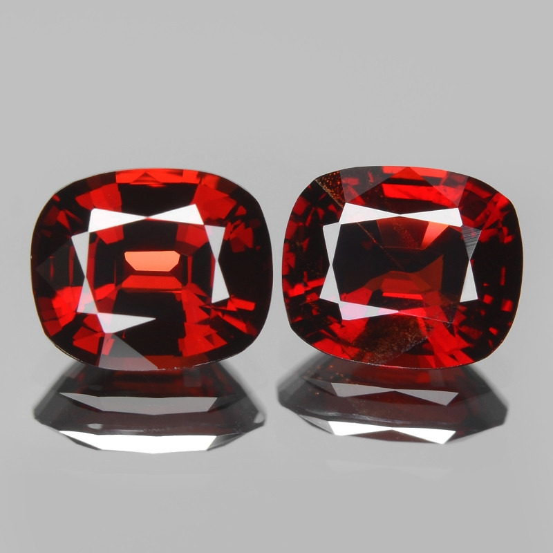 Unheated Red Spinel 1.92 Cts 2pcs  Fancy Natural Gemstone - Pair