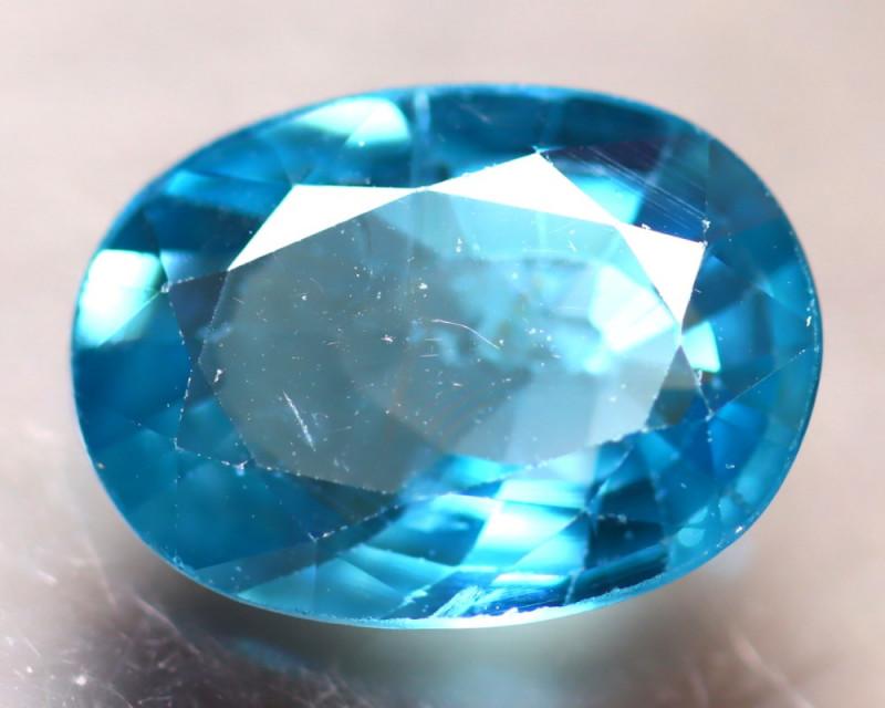 Blue Zircon 2.96Ct Natural Cambodian Blue Zircon D0820/B6
