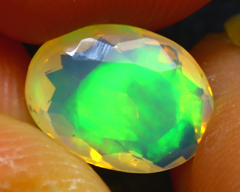 Welo Opal 1.10Ct Natural Ethiopian Faceted Welo Opal D0826/A44