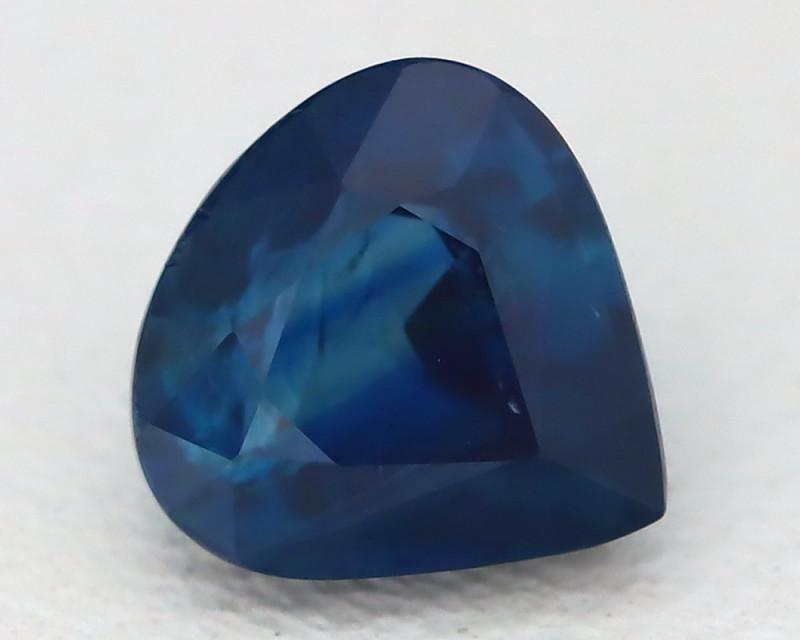 Unheated Sapphire 1.290Ct Pear Cut Natural Certified Blue Sapphire B0625