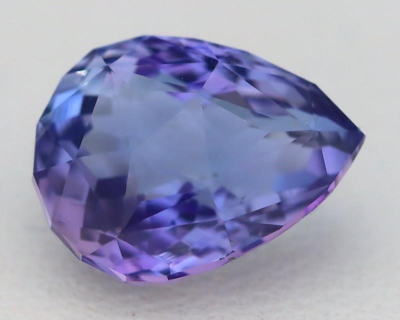 Tanzanite 2.76Ct VVS Pear Cut Unheated Purplish Blue Tanzanite B0667