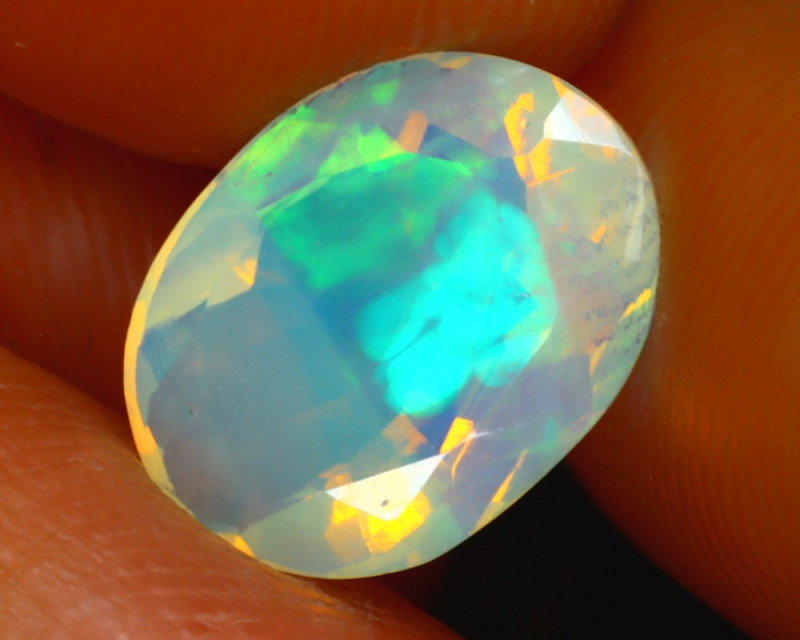 Welo Opal 1.92Ct Natural Ethiopian Faceted Welo Opal E1124/A44