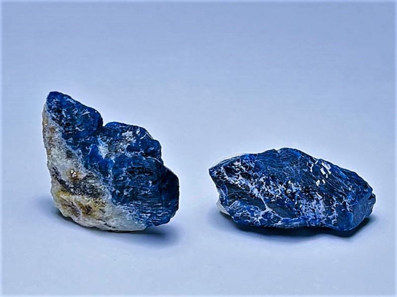 Amazing Natural color Lovely 2 Lapis Lazuli Specimen 39Cts-A