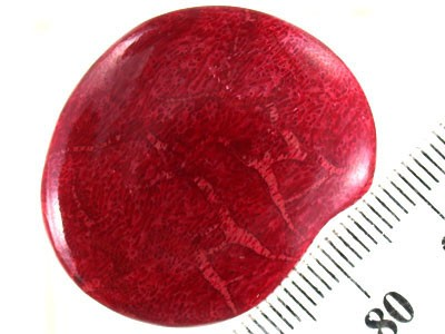 OVAL SHAPED RED FOSSIL CORAL STONE 32.80 CTS RN 1115