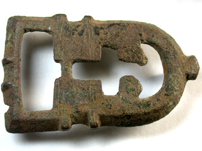 ANCIENT ROMAN-BYZANTINE BRONZE BUCKLE  OP110