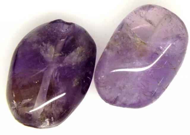 AMETHYST BEAD NATURAL 2 PCS 28.5 CTS  NP-1381