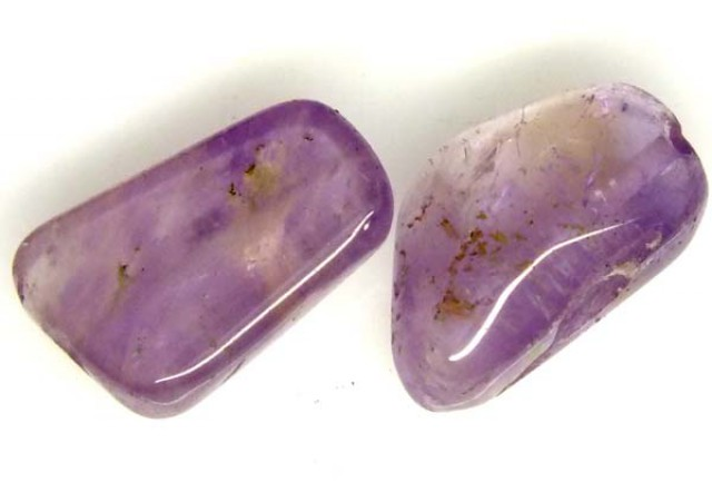 AMETHYST BEAD NATURAL 2 PCS 22.2 CTS NP-1372