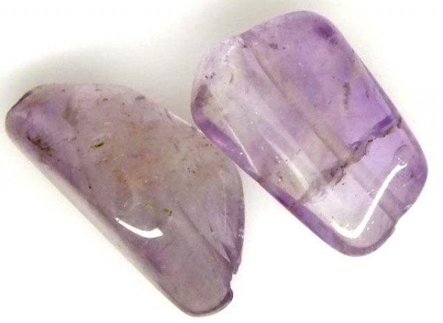 AMETHYST BEAD NATURAL2 PCS 22.3 CTS  NP-1587