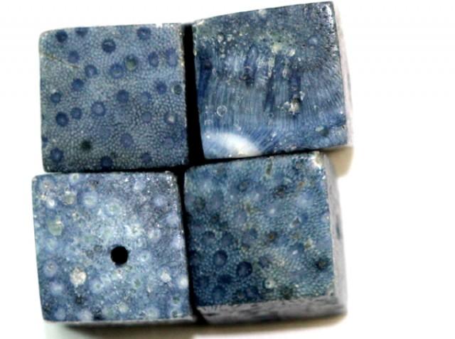 BLUE CORAL (4 pc PARCEL) 38 CTS TBG 260